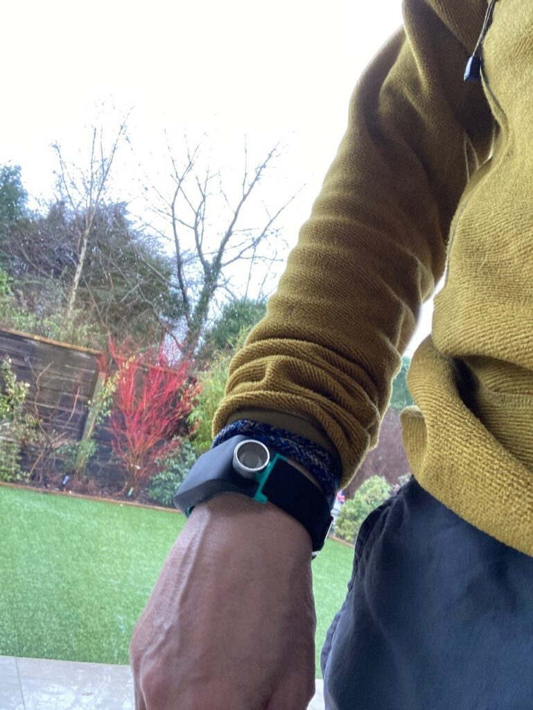 Sunu band on a wrist