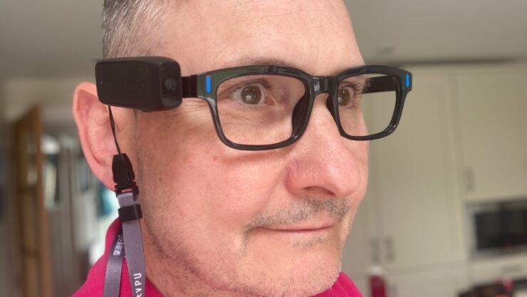 Mark wearing an AngelEye device