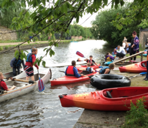 People enjoying canoeing at the Water sports centre-Image Credit Water Sports Centre, Droylsden