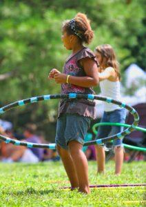 Girl hula hooping- Image Credit Gene-Gallin