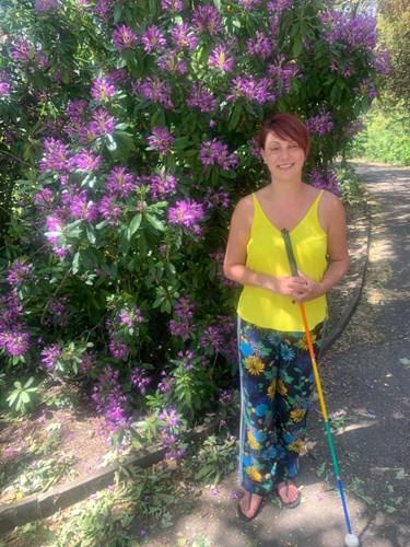 Nina getting ready for walk