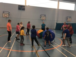 Group of people taking part in an activity
